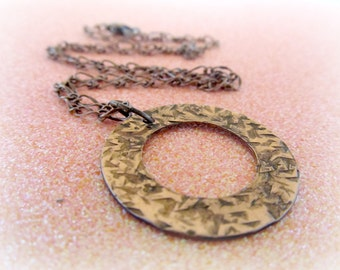 Hammered Copper Necklace by EverythingPrettyShop - The Artisan Group Member - Copper Charm Necklace - Boho Necklace Metal Jewelry