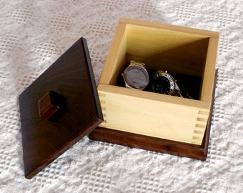 Wooden Keepsake Box - Walnut and Poplar