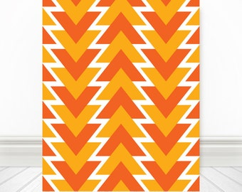 Orange & Yellow Shapes Abstract, Orange, Yellow, Orange Art, Yellow Art, Orange Print, Yellow Print, Orange Artwork, Yellow Artwork