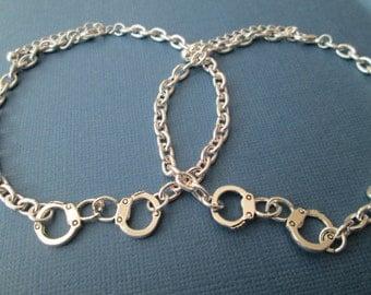 2 Hand Cuff, (Partners in Crime) Bracelets