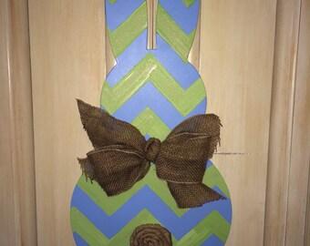Wood Easter Bunny Door Hanger