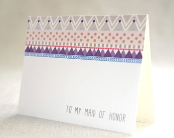 to my maid of honor - Bridal Stationery Note - Card