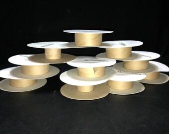 """10 Cardboard Ribbon Spools - 7/8"""" - Ribbons, Twine, Trim"""