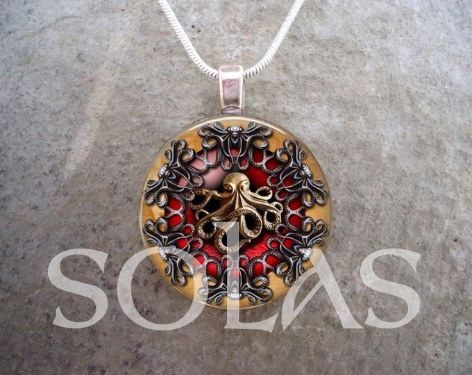 Steampunk Necklace - Glass Pendant Jewelry - Steampunk 1-20 - RETIRING 2017