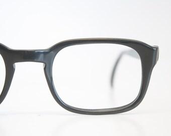 Romco Black Retro Glasses Vintage Eyeglass Frames Fade BCG Glasses Halo 1960's Johnny Depp James Dean vintage eyewear Vintage Eyeglasses