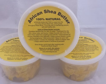 raw unrefined shea butter chunky 16oz 3 pack for 10
