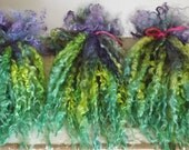 DRAGON'S WING - Long Teeswater locks   - Hand dyed for fantasy or art doll hair - gnomes beards - waldorf - blythe - spinning - felt