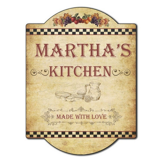 Personalised Kitchen Signs: Personalized Kitchen Wall Sign
