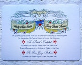 Wedding Invitation Set Vintage Valentine Lucky Birds Theme