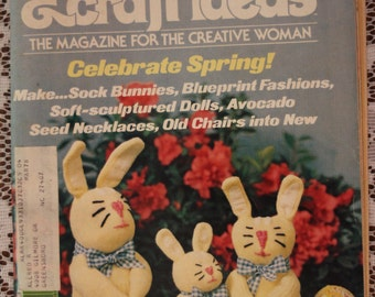 5 Decorating & Craft Ideas Magazines from 1976-1977 with lots of Craft Ideas to Make and Bake