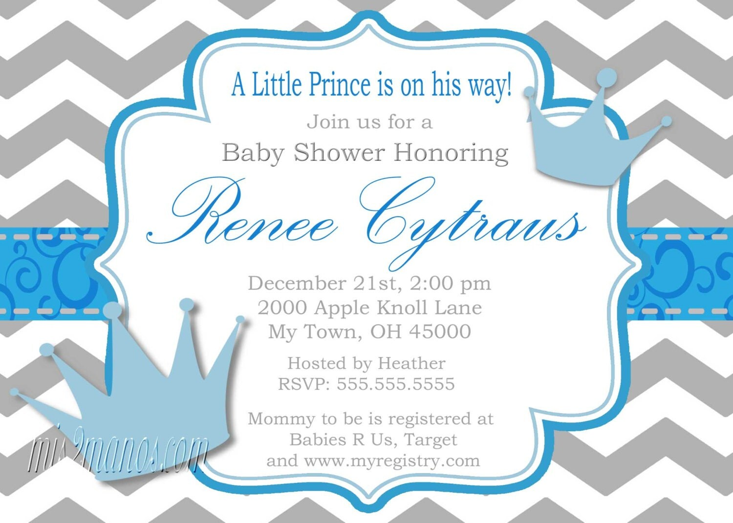 little prince baby shower invitation digital by mmpartydesigns, Baby shower