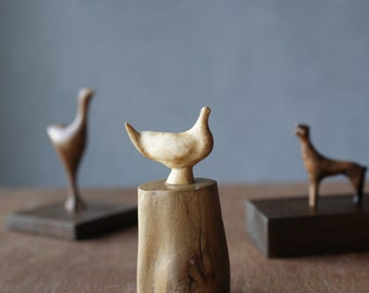 White Dove-  modern, minimalistic, hand carved wood sculpture