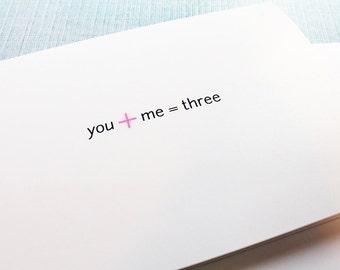 Pregnancy Announcement Card — Simple & Adorable