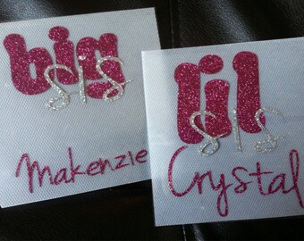 Big and Lil Sis Cheer Bow Decal