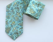 Mint Paisley Neck Tie, Wedding Tie, Mint Wedding Tie, Aqua Wedding Tie, Aqua Tie, Green Paisley Tie, Green Wedding Tie, Paisley Tie
