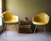 FREE SHIPPING-Herman Miller Chairs-Accent Chairs- Naugahyde- Eames Mid Century Gold