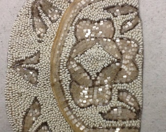 Vintage French Made Beaded Hand Purse