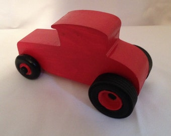 Wood Hot Rod Car