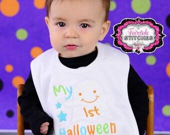 My First Halloween, My First Halloween Bib, First Halloween, Baby Shower Gift, Holiday Bib