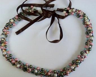 Beaded Headband and Belt