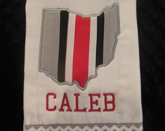 Ohio State Burp cloth