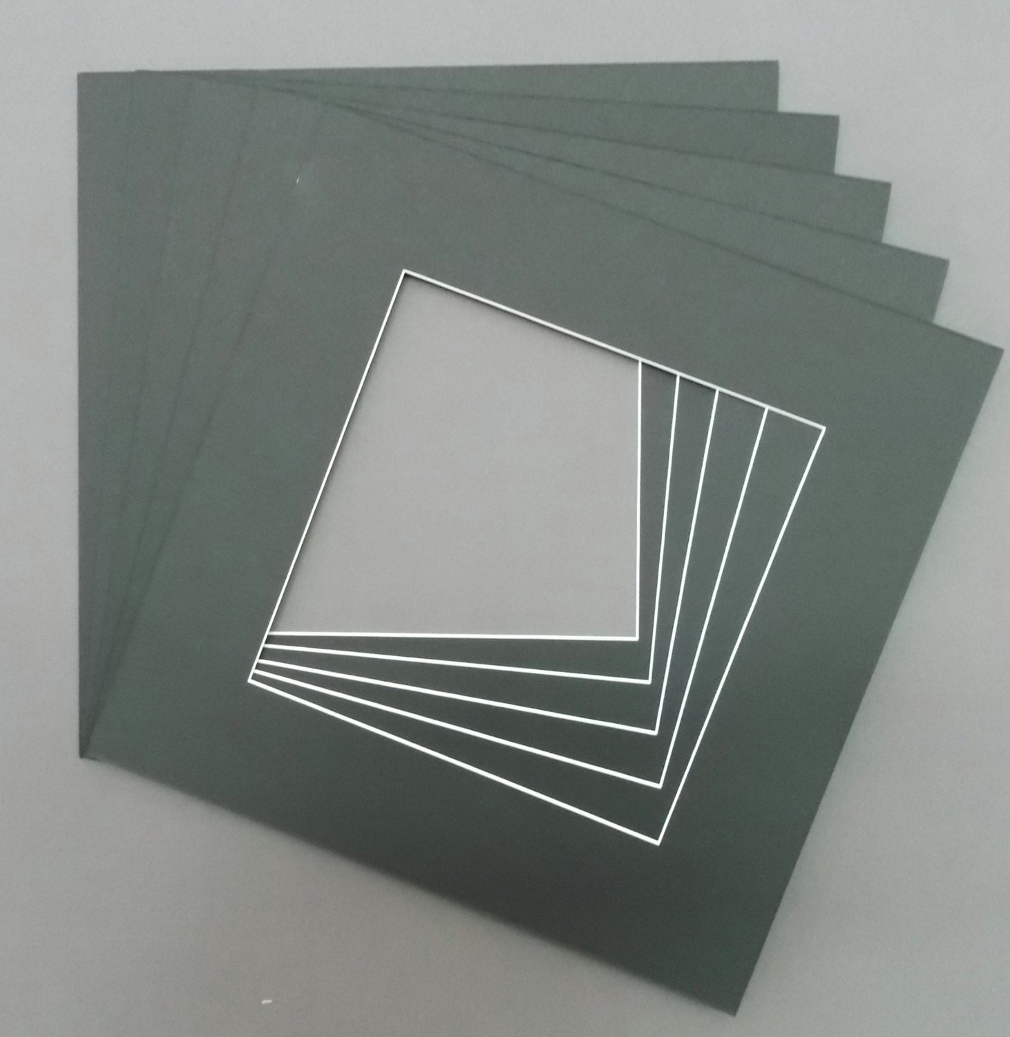 Square Picture Mats With White Core Bevel Cut For Various