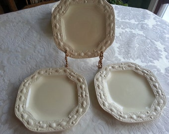 Set of 3 Adams Titian Ware Della Robia Salad Plates