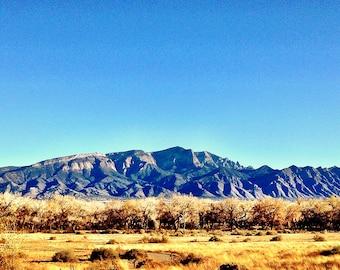 Sandia Mountains Photograph New Mexico Rocky Mountains Autumn Gold
