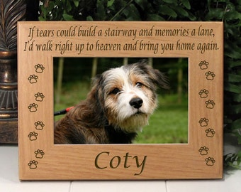 If Tears Poem All Dog Paw Memorial Frame