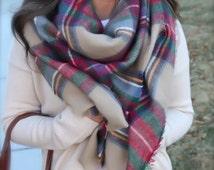 Super soft blanket scarf/cozy scarf/oversized scarf