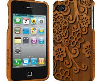 Floral - Wood iPhone 5 / 5s Case, Bamboo iPhone 5/5s case, iPhone 5 Case