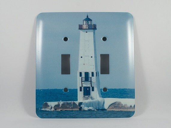Clearance 50pct off light switch cover frankfort michigan for Lighthouse switch plates