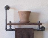 The Elevated Single Walnut Towel Rack