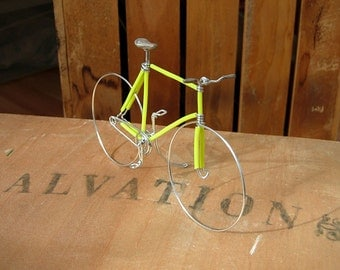 SALE Lemon Yellow Wire Bike