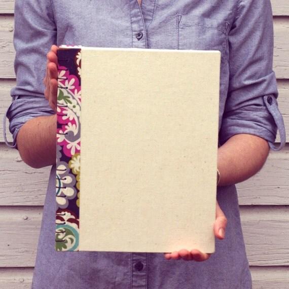 Spine Patterned Fabric Sketchbook Large