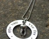 Dentist or hygienist  Hand Stamped Tooth Necklace