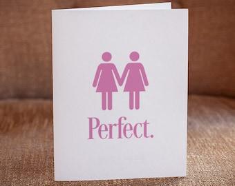Perfect (Lesbian Couple) Letterpress Card