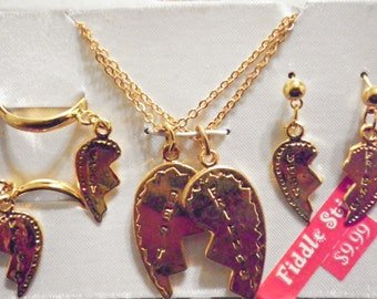 1 Set of Goldplated Best Friends Jewelry