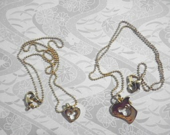 1 Disney Goldplated Mommy and Me Necklace Set