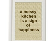 kitchen print, happiness, home decor,  8''x10'', home decor, free shipping, cooking