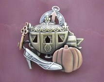 Cinderella Brooch- Cindrella Jewelry- Cindrella Carriage- Cinderella Shoe- Cinderella Pin