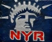 """NY Rangers """"Liberty"""" Fine Art"""