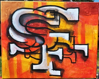 SF 49ers Cubist Abstract Logo