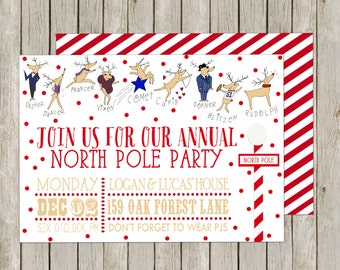 Christmas Party Invitation, North Pole Party, No. 34
