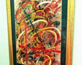 HENDRIK GRISE: Original Signed Watercolor and Gouache Abstract Expressionism Painting