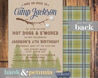 Camp Out Birthday Invitation