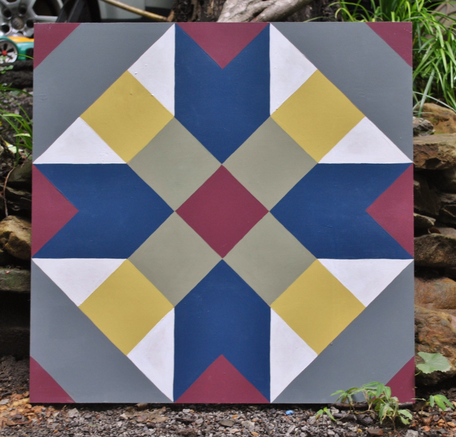 Crossroads 2' x 2' hand painted Barn Quilt Square