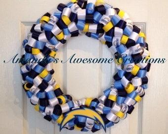 San Diego Chargers Football Ribbon Wreath