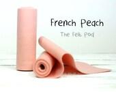 """100 Percent Wool Felt Roll - Wool Felt color FRENCH PEACH - 5"""" X 36"""" Wool Felt - 100% Wool Felt"""