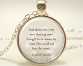 Custom Quote Necklace, Personalized Jewelry For Poem, Song Lyrics, Or Text (1729S1IN)